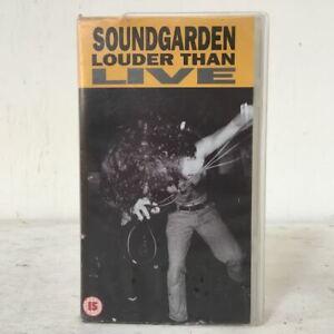 Vintage Soundgarden Louder Than Live - VHS Tape - Grunge Music 90s - Rare