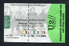 Original 2005 U2 Concert Ticket Stub Vertigo Tour Cardiff UK