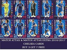 Topps Match Attax & Match Attax Extra 2016 2017 16 17 Choose your CHELSEA cards