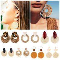 New Women Simple Geometric Circle Ear Stud Drop Dangle Earrings Fashion Design