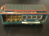 Vintage Tin Friction San Francisco Cable Car -  Made In Japan