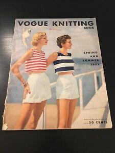 Vintage 1952 Spring and Summer Vogue Knitting Magazine