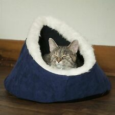 PAW Feline Cat Comfort Cavern Pet Bed - Blue Washable