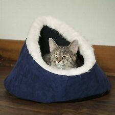 PAW Feline Cat Comfort Cavern Pet Bed - Blue Washable