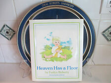 """Heaven Has a Floor"" Book Signed Evelyn & Oral Roberts University TRAY"
