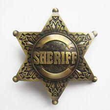 POLICE COPS SHERIFF LAW ENFORMENT WESTERN COWBOY BELT BUCKLE