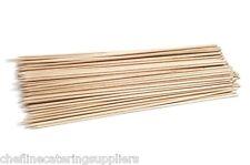 100 Madera/Bambú Pinchos 30.5cm para barbacoa,Kebab,Chocolate Fuentes de agua
