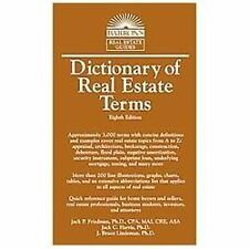 Dictionary of Real Estate Terms (Barron's Dictionary of Real Estate Terms)