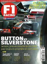 F1 RACING NO.161 JUILLET 2012 JENSON BUTTON/ GP SILVERSTONE/ HERBERT/ ALONSO