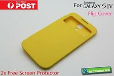 Brand new S-View Window Flip Cover Case for Samsung Galaxy SIV S4 GT-i9500 YLW
