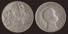 2 LIRE 1908 QUADRIGA VELOCE - VITTORIO EMANUELE III - ARGENTO SILVER