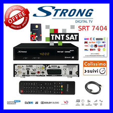 TNTSAT STRONG 7404 HD Set Top Box and CardFrench TV FREE in UK No Subscription