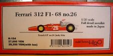 Rare Factory HIRO 1/20 Ferrari 312 F1-68 no.26 full detail model kit