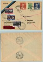 Germany 1948 Baltic DP cover Augsburg DP Camp Hochfeld Est. Latv. Lith . f7680