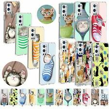 Cat Pattern TPU Case Clear Silicone Cover For OnePlus 5T 6 7 8T 9Pro Nord N10 5G