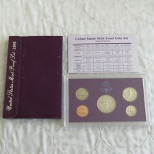 USA 1989 s 5 COIN PROOF YEAR SET - sealed/outer/coa