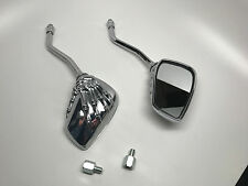 VW Dune Buggy Baha Hot Rod ATV Custom Aluminum Skeleton Hand Mirrors CHROME NEW