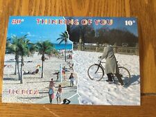 POSTCARD NEW & UNUSED-FLORIDA THINKING OF YOU TODAY'S TEMPERATURE 80 YOURS 10