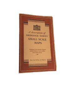 A Description of Ordnance Survey Small Scale Maps (1947) Near Mint
