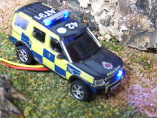 Oxford 1/76 00 scale police land rover with flashing lights fitted roof & grill