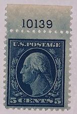 Travelstamps:1917-19 U.S. Stamps Scott# 504, 5 cents, Washington, Mint MOGLH