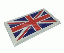 England UK Britain Flag Badge Chrome Metal Side Rear Trunk Emblem Badge Sticker