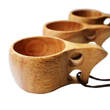 Rubber wood Wooden Cup Creative Survival Bushcraft Camping Kuksa Kasa Curly Mug