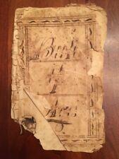 Handwritten 1837 Guilford County North Carolina Genealogy Sockwell Family, Apple