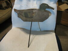 Vintage Metal Silhouette Duck Decoy- Good Condition-Very collectible