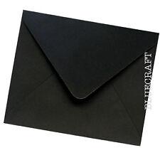 100 x Premium Black Square 155 x 155mm 6 inch Envelopes 100gsm