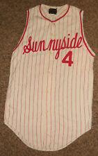Vintage Sunnyside Washington Grizzlies H.S. Baseball Jersey, Circa 1960, Scarce!