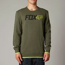 Fox Racing Warm Up Pullover Crew Fleece Heather Fatigue (Medium)