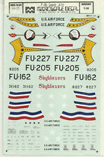 1/48 MicroScale Decals USAF Sabre F-86A 56th FG Silver Sabres F-86E Skyblazers