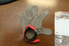 Stainless Steel Mesh Cut Resistant Glove Large Hand Cuff *New*