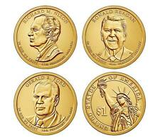 2016 Us Presidential Dollars Uncirculated 3 coins Nixon Ford Reagan D