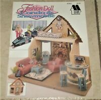 Plastic Canvas Fashion Doll Condo & Snowmobile Pattern Booklet Annie's Attic