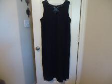 Jessica Howard Woman Size 18 Sleeveless Black Dress Beaded Front Neckline