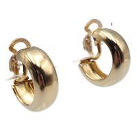 Vintage Gold Tone 19.65mm Hoop Fashion Clip On Earrings