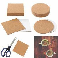 10~100X Self-Adhesive Cork 4 Inches Cork Backing Sheets Cork Tiles Coasters US