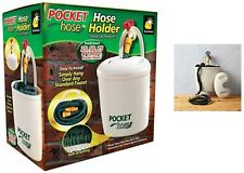 Pocket Hose Holder II Larger Size Up to 100ft Hang Home And Garden Self Draining