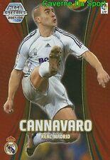 368 FABIO CANNAVARO ITALIA REAL MADRID TARJETA CARD MGK  LIGA 2008 PANINI