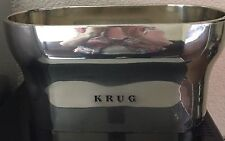 KRUG CHAMPAGNE DOUBLE MAGNUM COOLER BUCKET VASQUE  PEWTER  BOXED USED