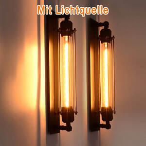 Außenlampe Antik Wandleuchte Vintage Industrie Käfig Wandlampe Zimmer E27