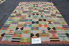 Vintage Kilim Traditional Hand Made Oriental Multi Colour Wool Large Kilim Rug