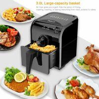 1500W Electric Air Fryer W/ 8 Cooking Presets, Temperature Control, Timer TO