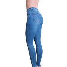 Damen Skinny Jeans Push Up Hose High Waist Destroyed Slim Fit Stretch