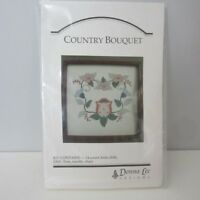 NEW DONNA LEE Counted Cross Stitch Kit Country Bouquet SEALED Flowers