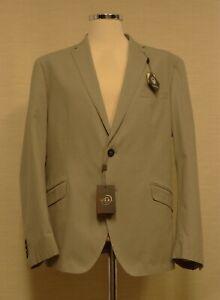 Douglas and Grahame Mens Silver Grey Lightweight Cotton Summer Jacket Size 48R
