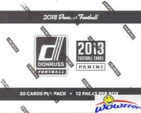 2018 Donruss Football Factory Sealed Jumbo Fat Pack Box-360 Cards! 48 Parallels!