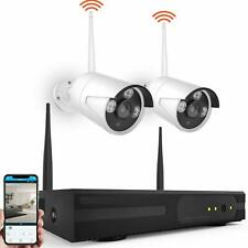 2CH Wireless 1080P DVR KIT CCTV WIFI IP Outdoor Home Security 720p Camera NVR HD